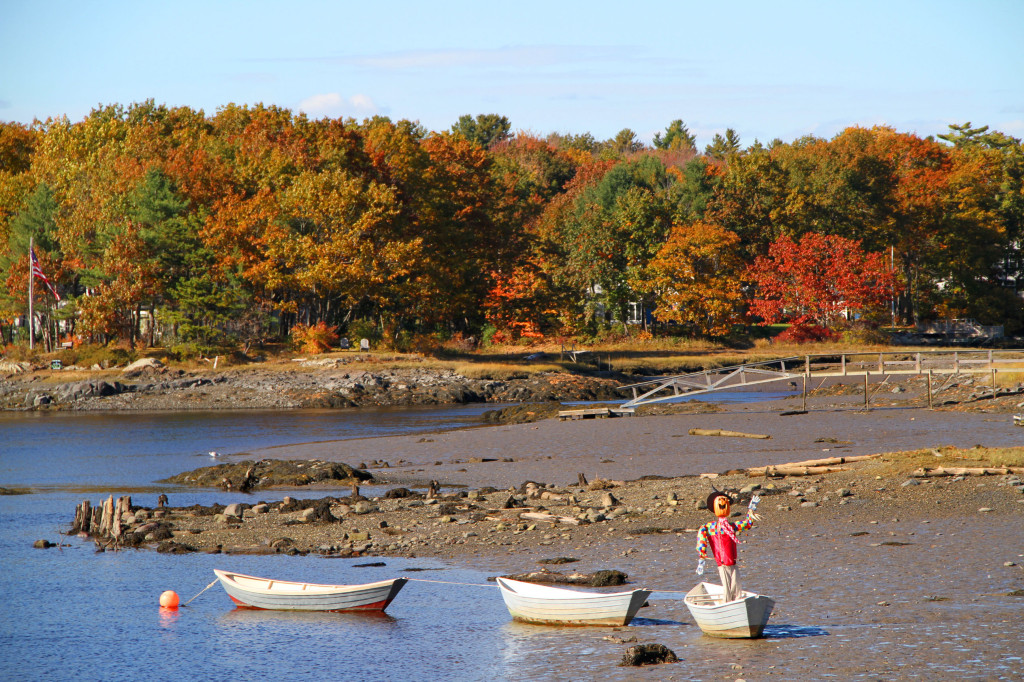 Kennebunk River in the Fall