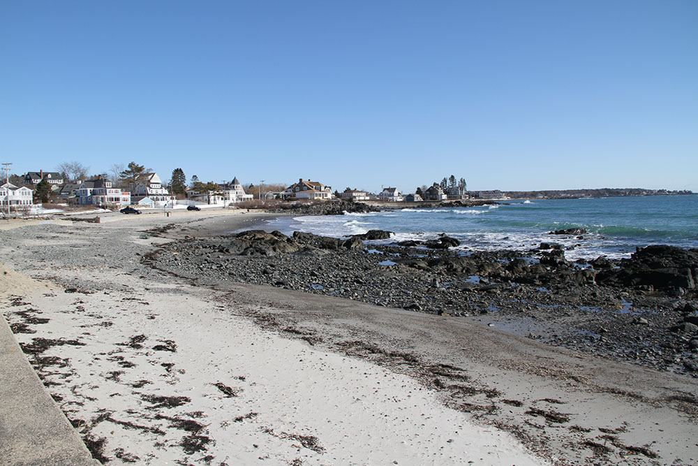Kennebunk Beach In Winter