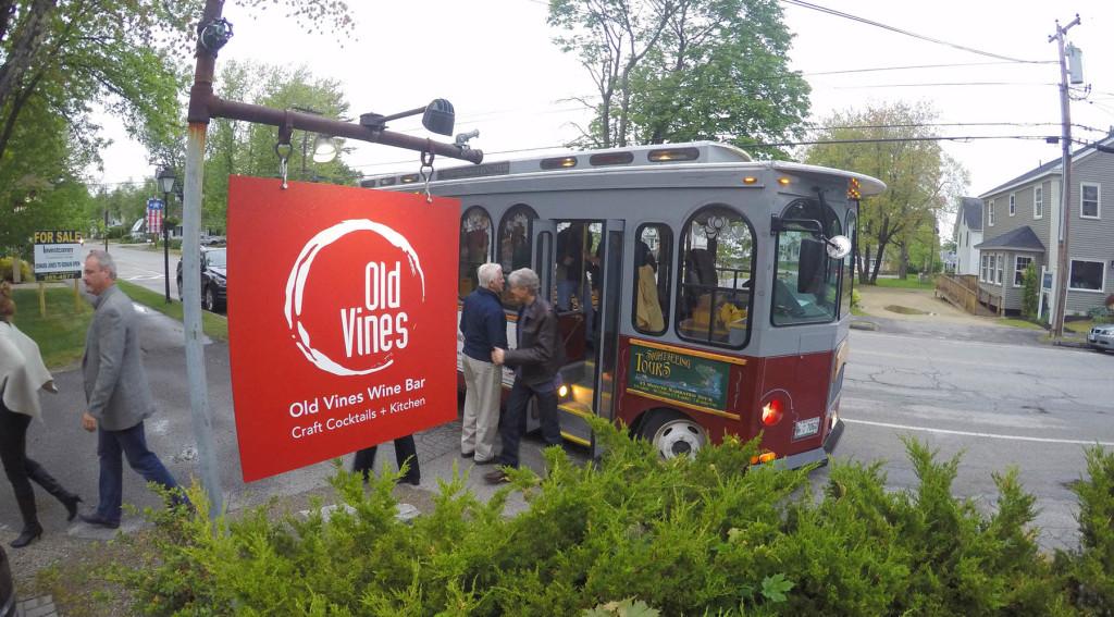 Old Vines Kennebunk Progressive Dinner Trolley Tour