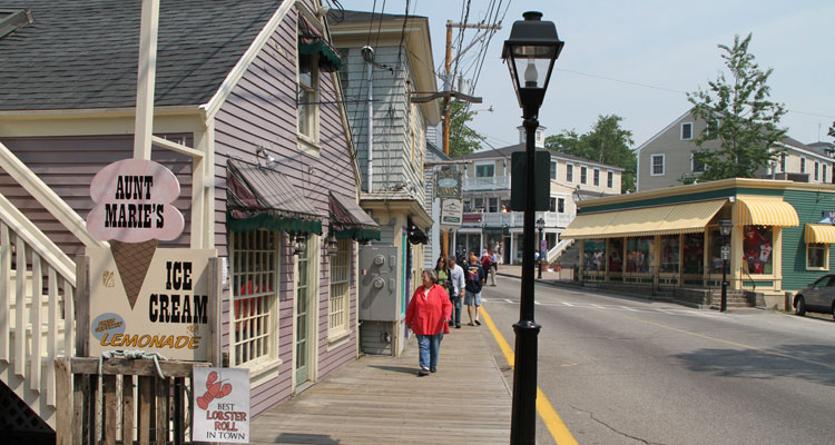 Kennebunkport Maine Dock Square Shops and Area Shopping