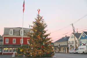 Christmas Prelude in Kennebunk Maine Christmas tree in Dock Square